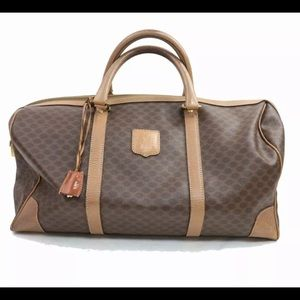 Celine travel bag with lock and key